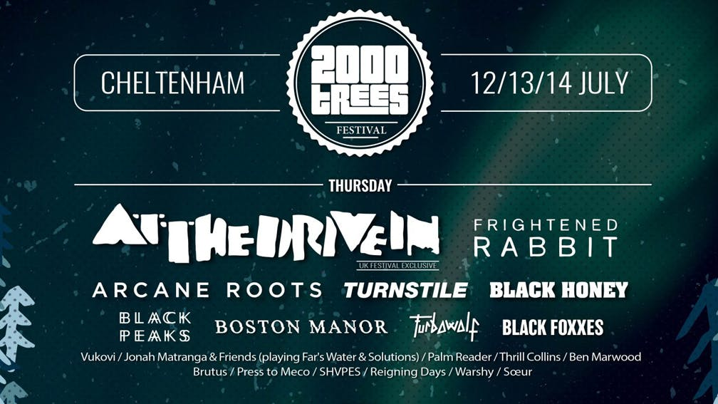 2000trees Festival Announce Final 2018 Headliner