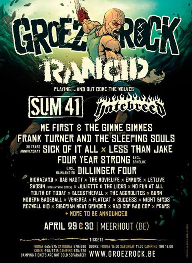 Groezrock 2016 Announces 29 More Bands Including Sum 41, Letlive. And Four Year Strong