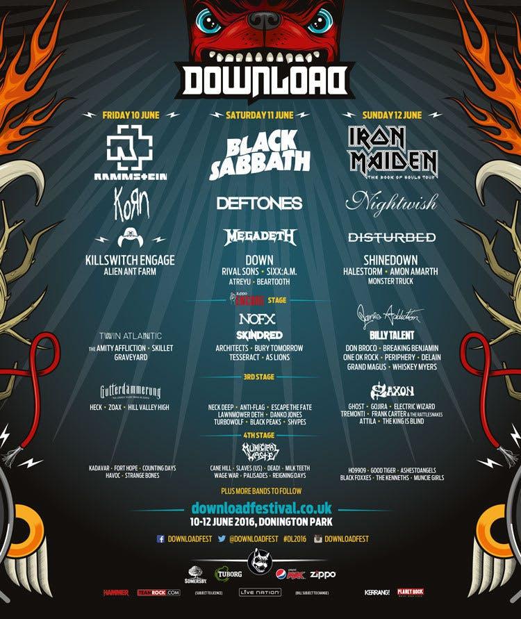 Download Festival 2016 Confirms 36 New Bands