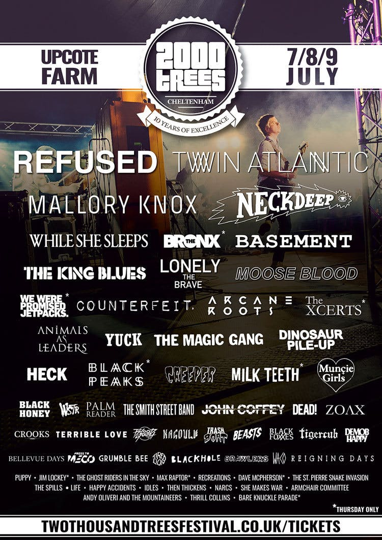 2000 Trees Confirms Mallory Knox, Creeper, Counterfeit And Loads More