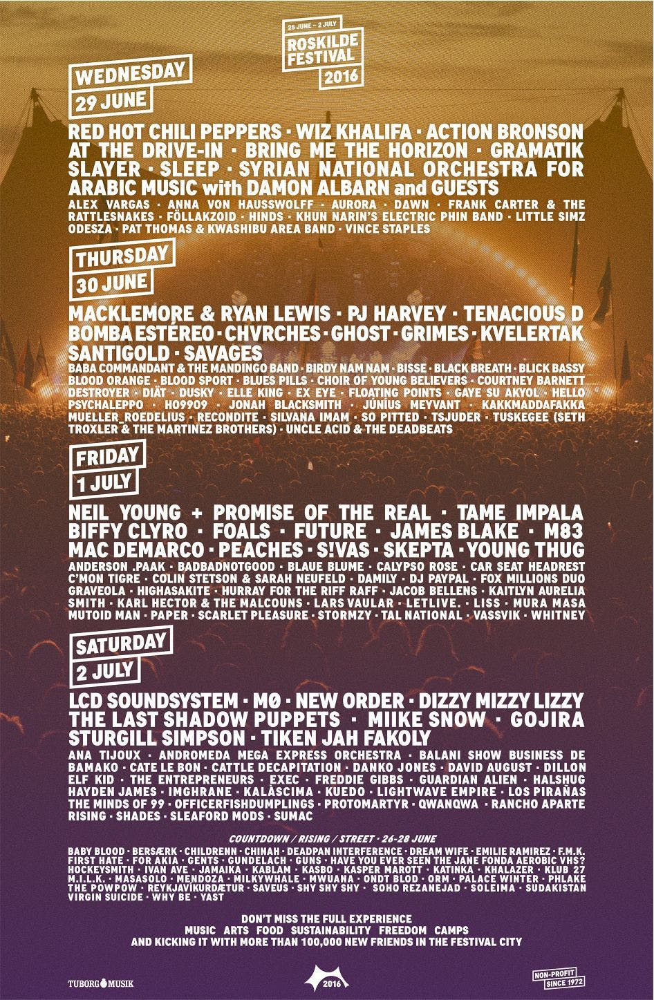 Biffy Clyro, Slayer and more announced for Roskilde festival