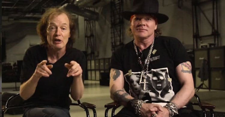 AC/DC And Axl Rose Appear Together For The First Time
