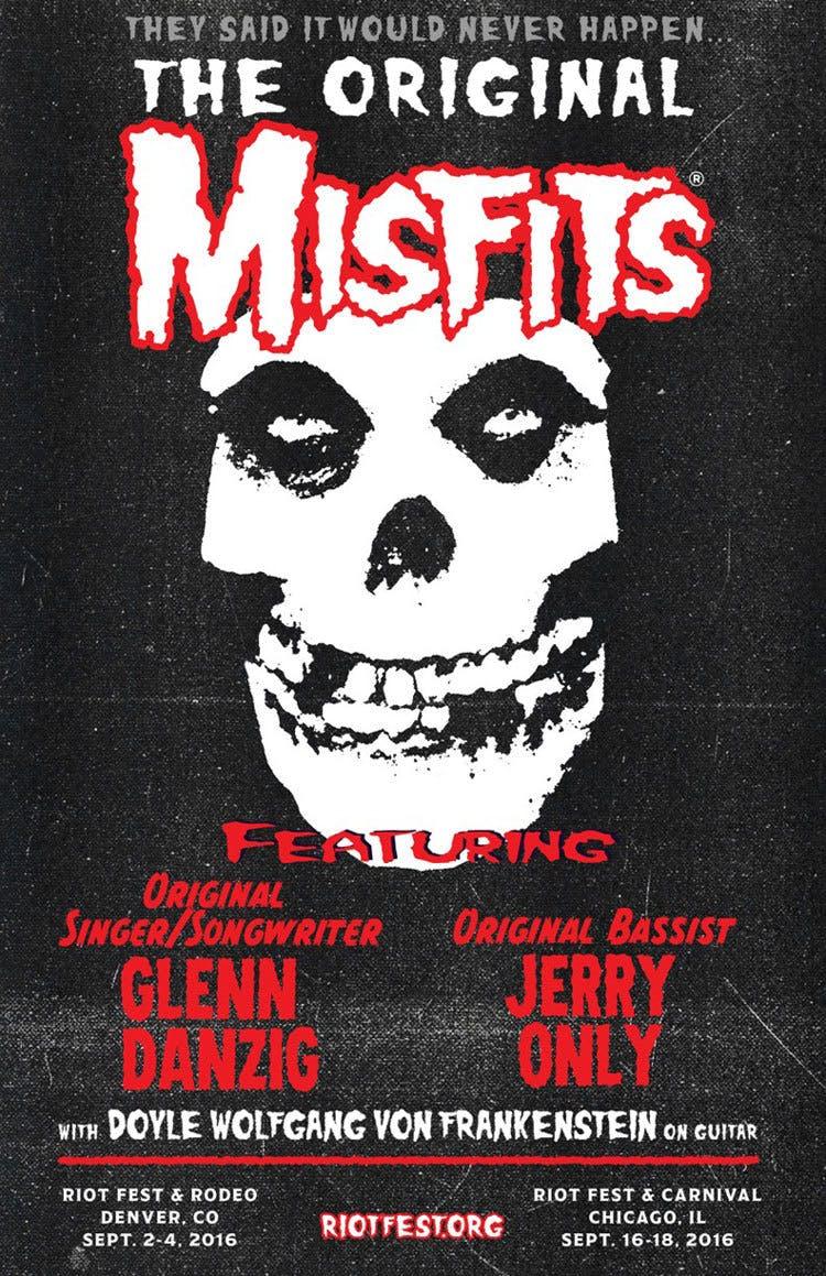 Classic Misfits Line-up Reunite For Riot Fest