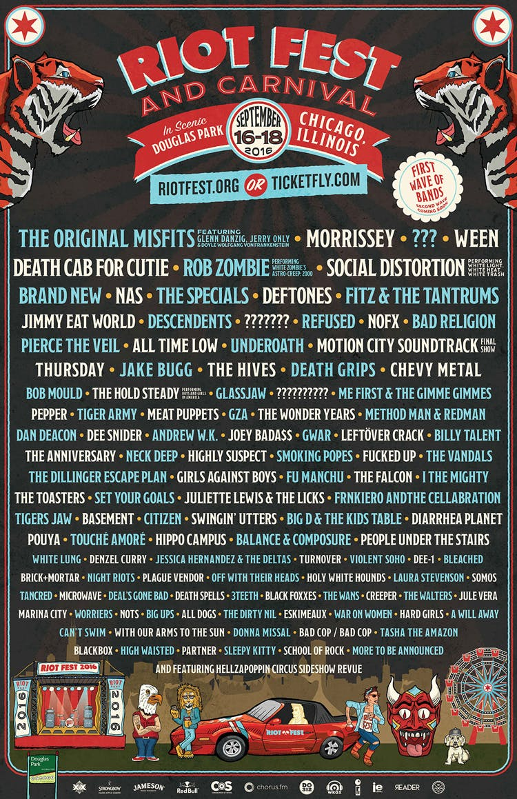 All Time Low, Deftones, Pierce The Veil And Loads More Confirmed For Riot Fest