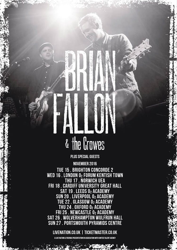 Brian Fallon & The Crowes Announce UK Tour