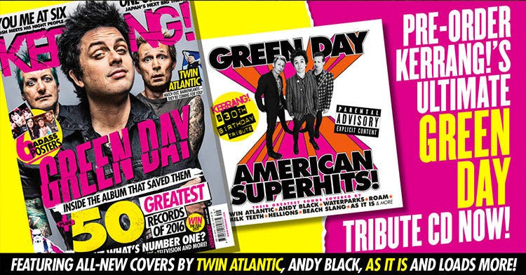 Pre-Order Kerrang!'s Green Day American Superhits Cover CD + Issue Now!