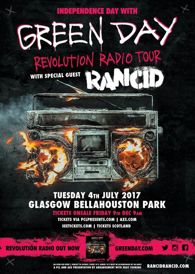 Green Day Announce Huge UK Show With Rancid