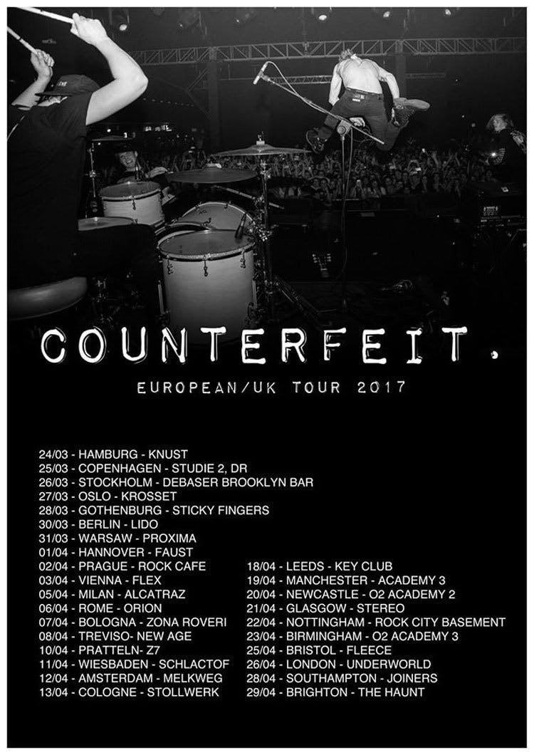 Counterfeit Announce Debut Album And Reveal New Single