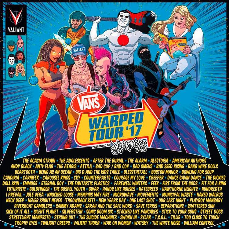 Vans Warped Tour 2017 Line-Up Announced