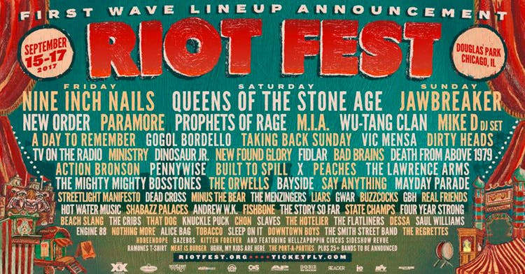 QOTSA, Paramore, Jawbreaker, Nine Inch Nails And Loads More Confirmed For Riot Fest 2017