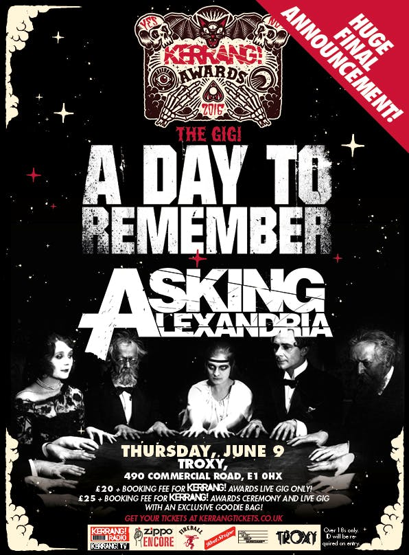 A Day To Remember Kerrang Awards Poster