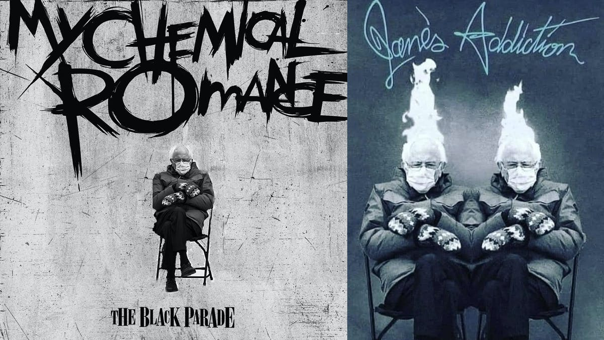 The very best rock and metal album covers featuring the Bernie Sanders inauguration meme — Kerrang!