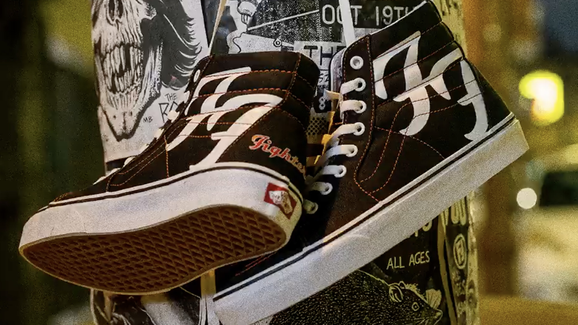 Foo Fighters and Vans team up for limited-edition Sk8-Hi trainers ...