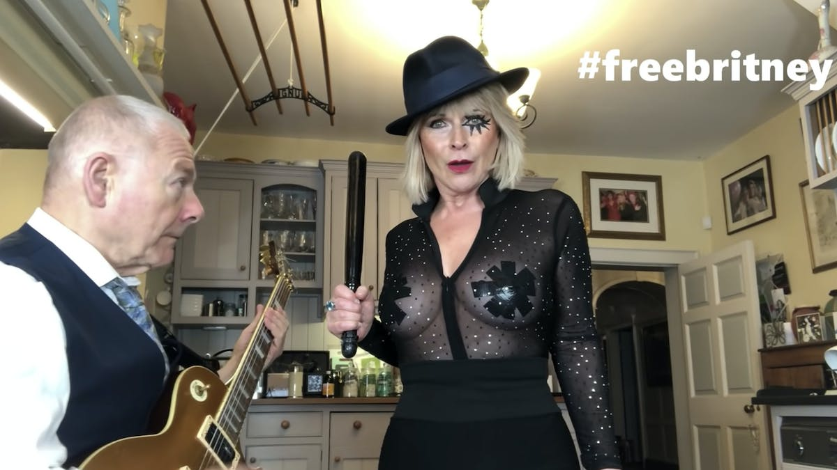 Toyah Willcox and King Crimson's Robert Fripp cover Toxic by Britney Spears