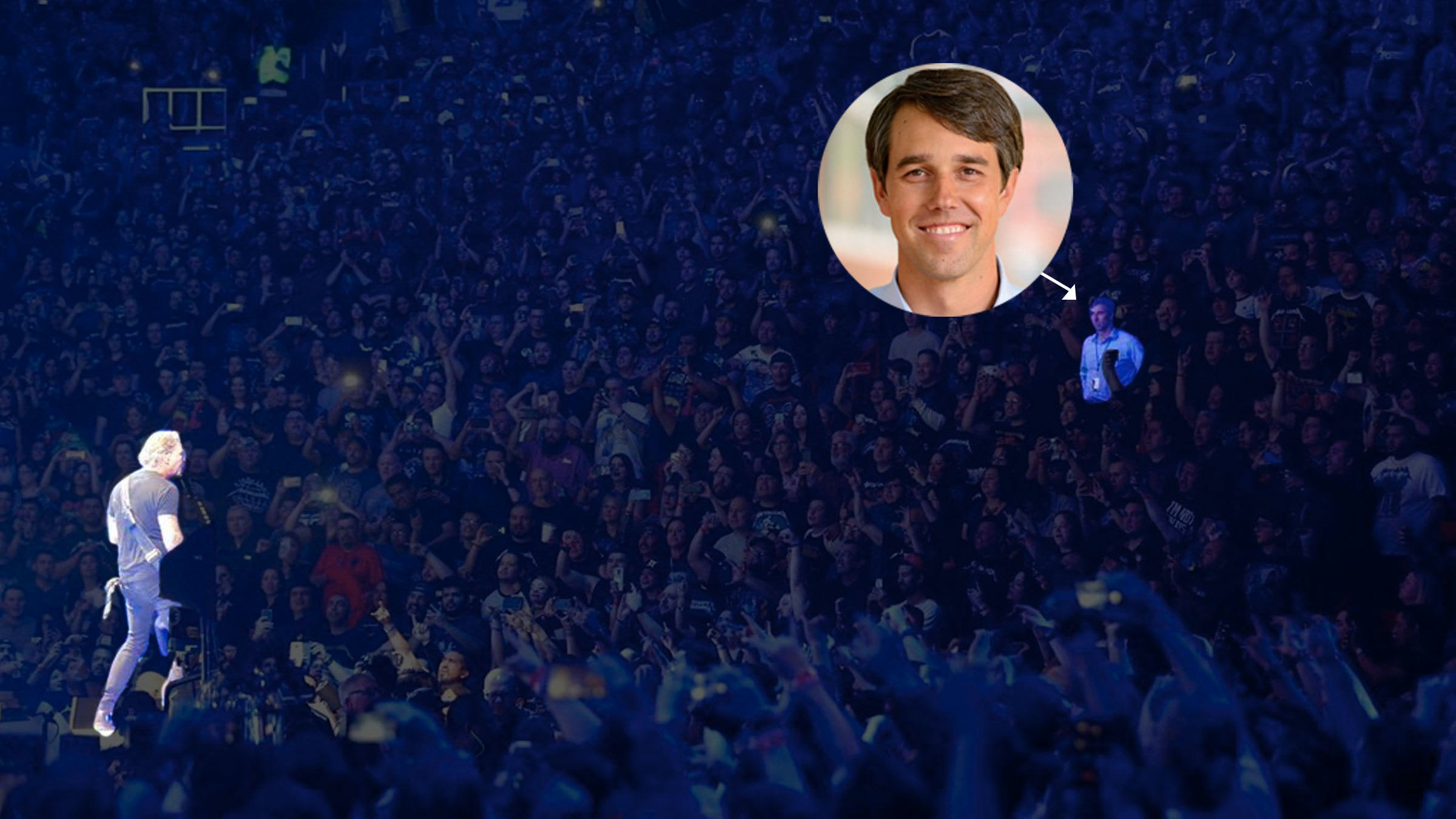 Congressman Beto O'Rourke Was Spotted At A Metallica Show