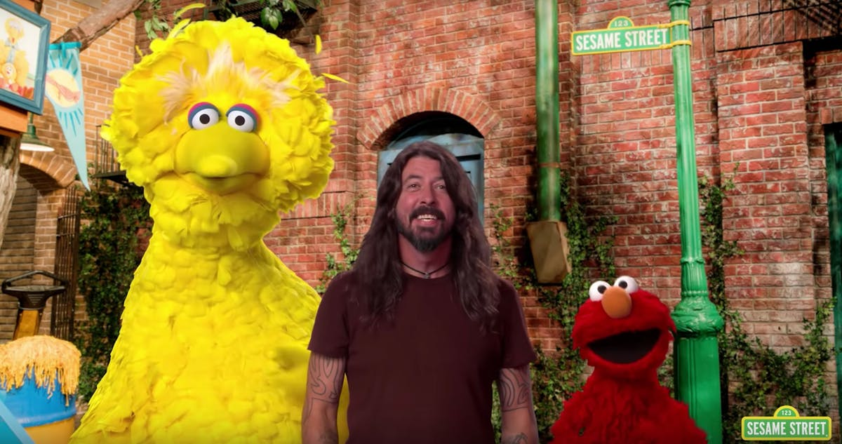 Watch Dave Grohl's Adorable Appearance On Sesame Street
