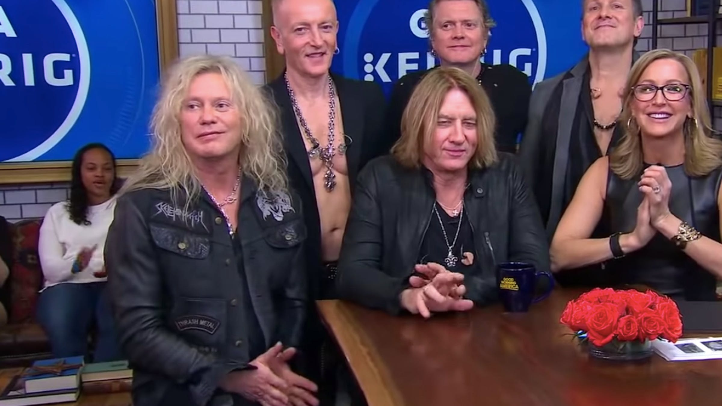 Def Leppard's Bassist Sported A Skeletonwitch Patch On Good Morning America