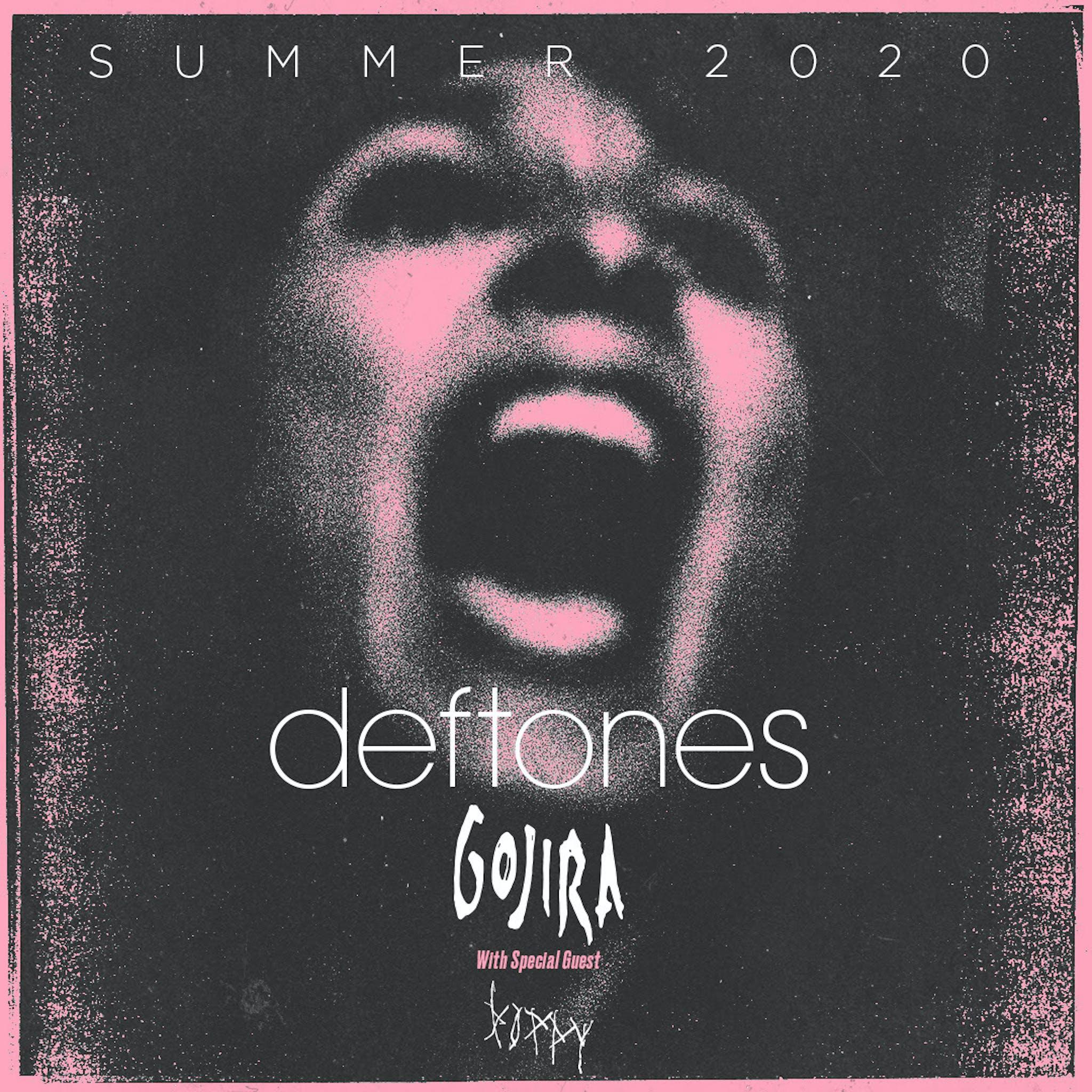 Deftones Gojira Tour 2020 Flyer