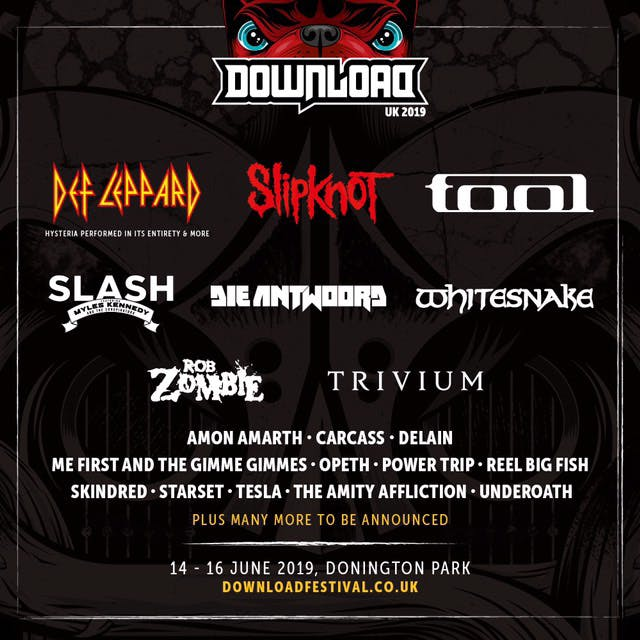 Download Festival 2019 Poster October Announcement
