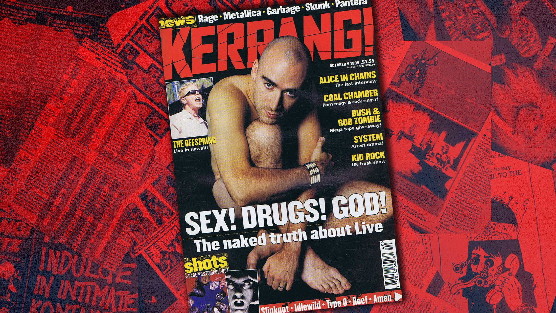 Why Live's Ed Kowalczyk Posed Naked For Kerrang! In 1999