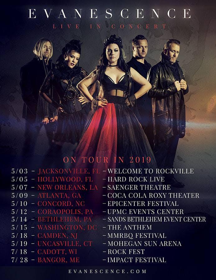 Evanescence 2019 Us Tour