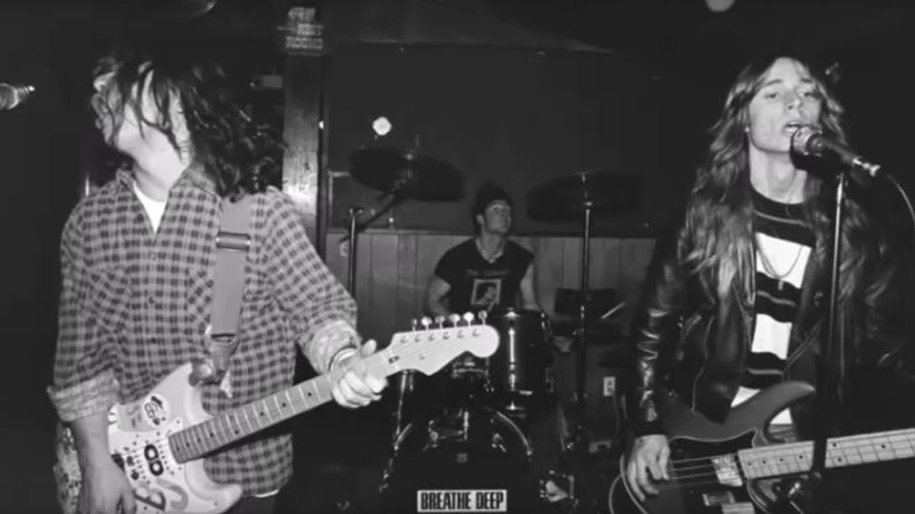 Green Day performing live in 1989