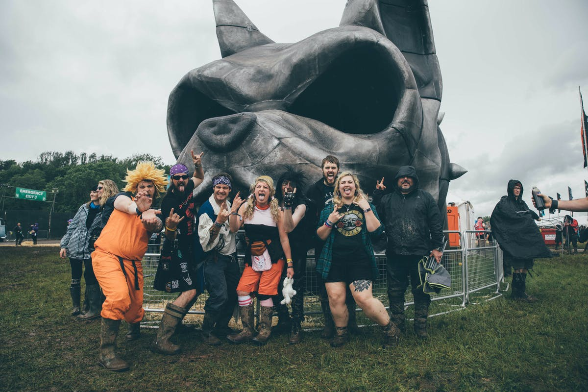 In Pictures: The Hair Metal Fans Of Download Festival