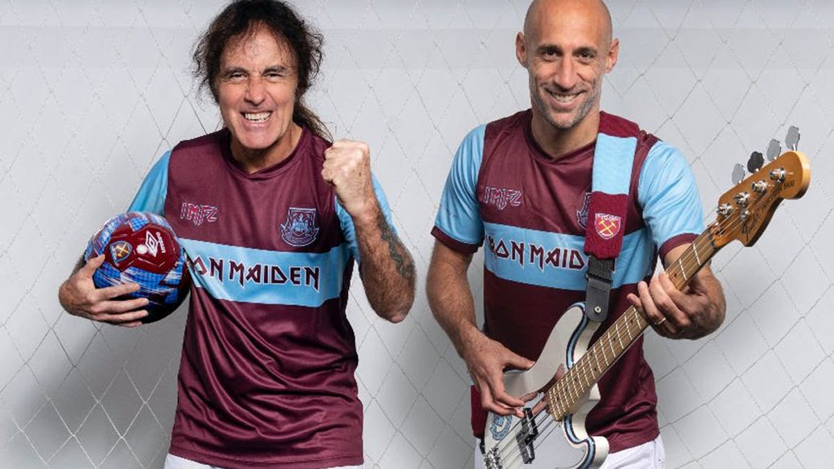 Iron Maiden And West Ham Announce Football Kit Collaboration