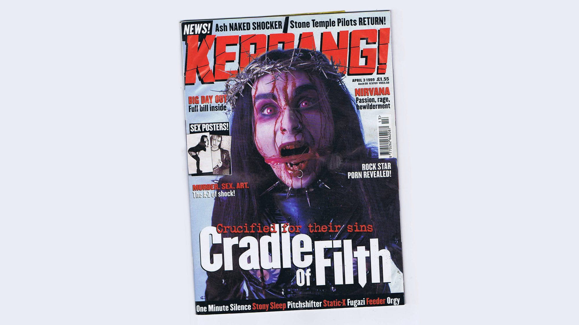 Cradle Of Filth on the cover of Kerrang! issue 744