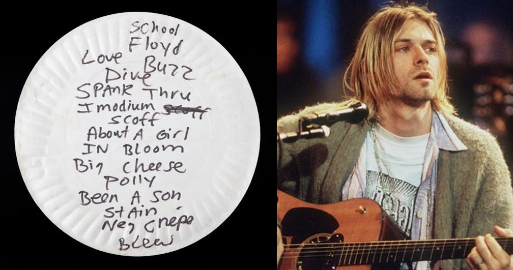 A Paper Plate Which Kurt Cobain Ate Pizza Off Has Been Sold For $22,400