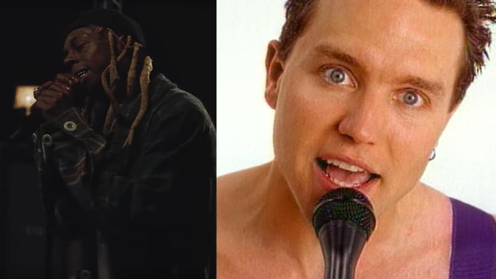 Watch blink-182 And Lil Wayne Mash-Up What's My Age Again? With A Milli
