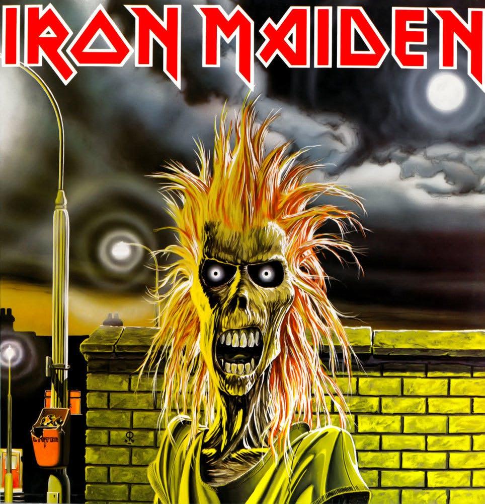 Iron Maiden 1980 album cover