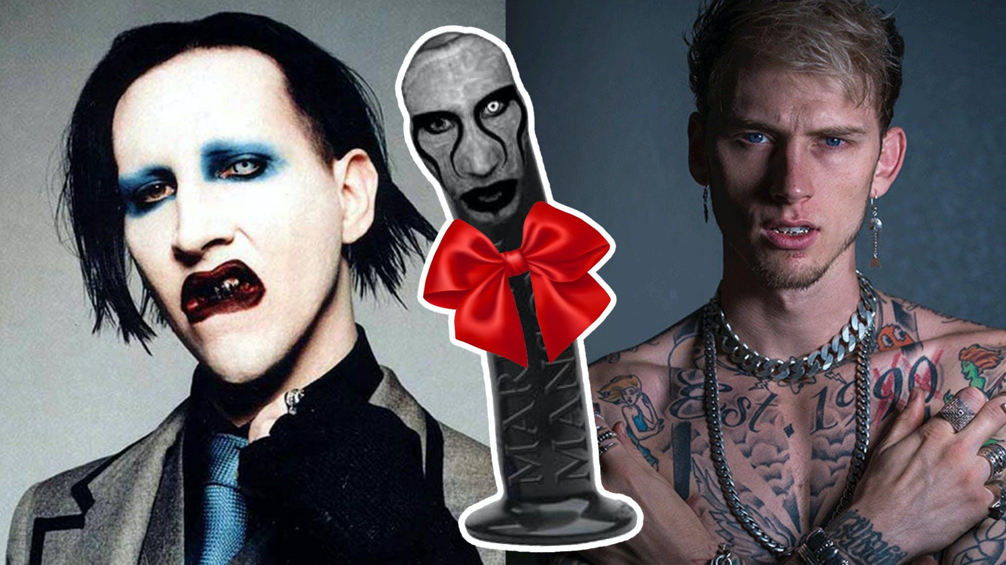 Marilyn Manson Gave A Dildo To Machine Gun Kelly For His Birthday