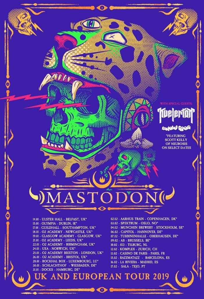Mastodon Uk Europe 2019 Tour