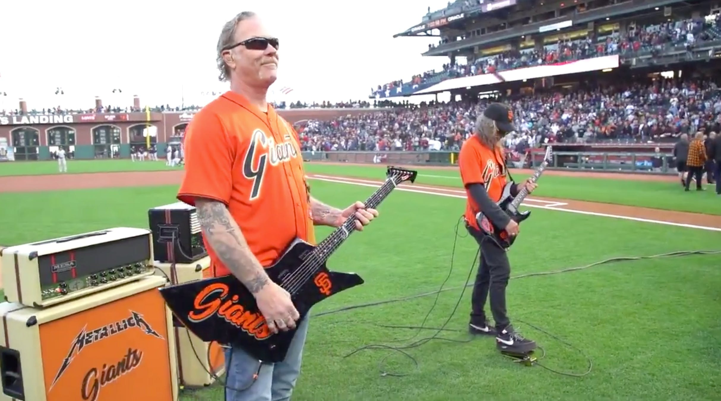 Watch Metallica's James Hetfield And Kirk Hammett Play The National Anthem At A San Francisco Giants Game