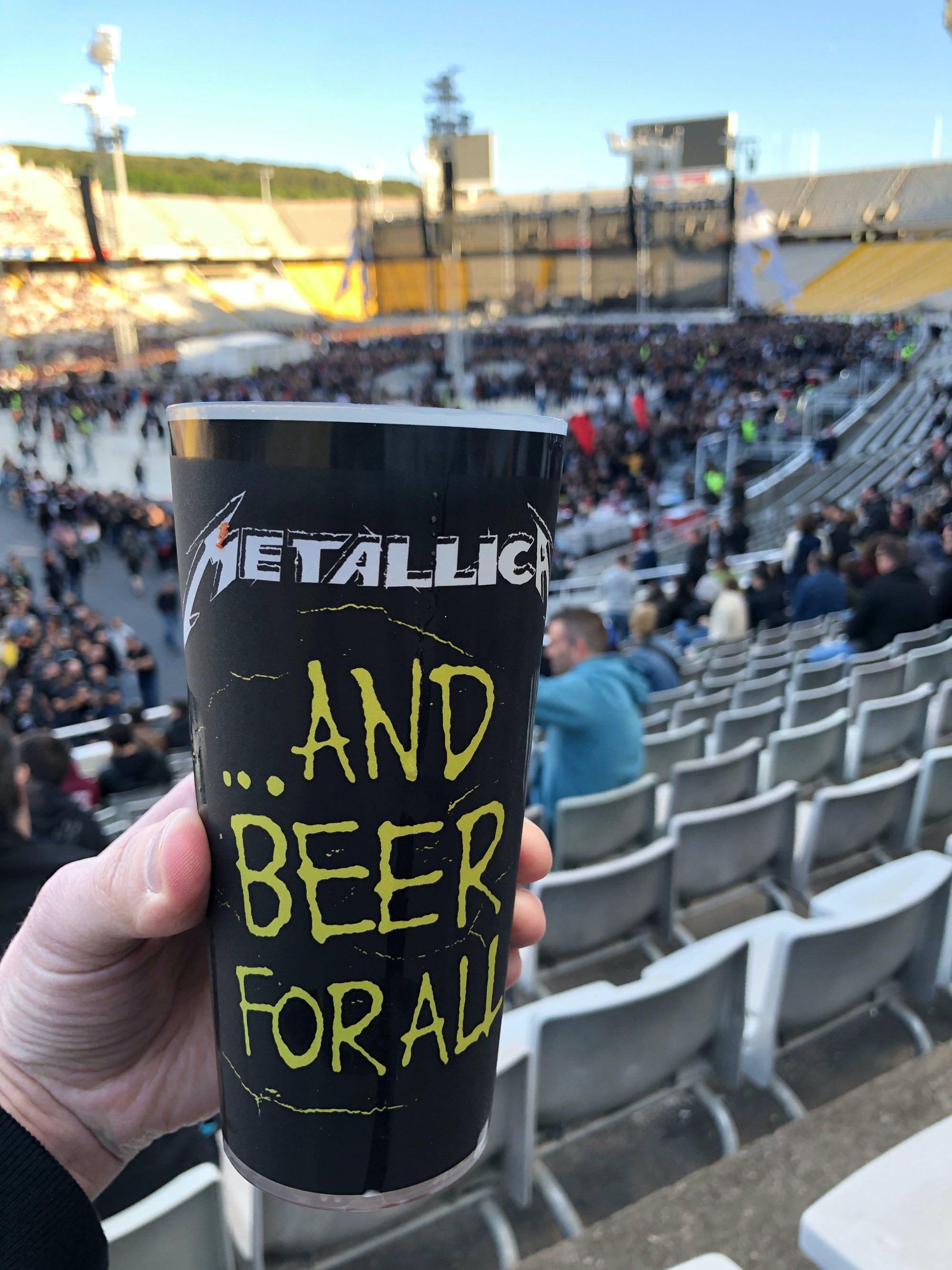 Drinking Metallica beer