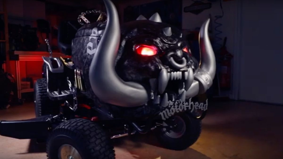 Motörhead's Mikkey Dee Has The Coolest Lawn Mower Of All Time
