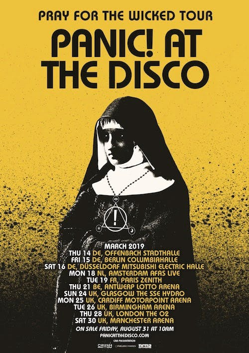 Panic At The Disco Uk Europe Tour 2019