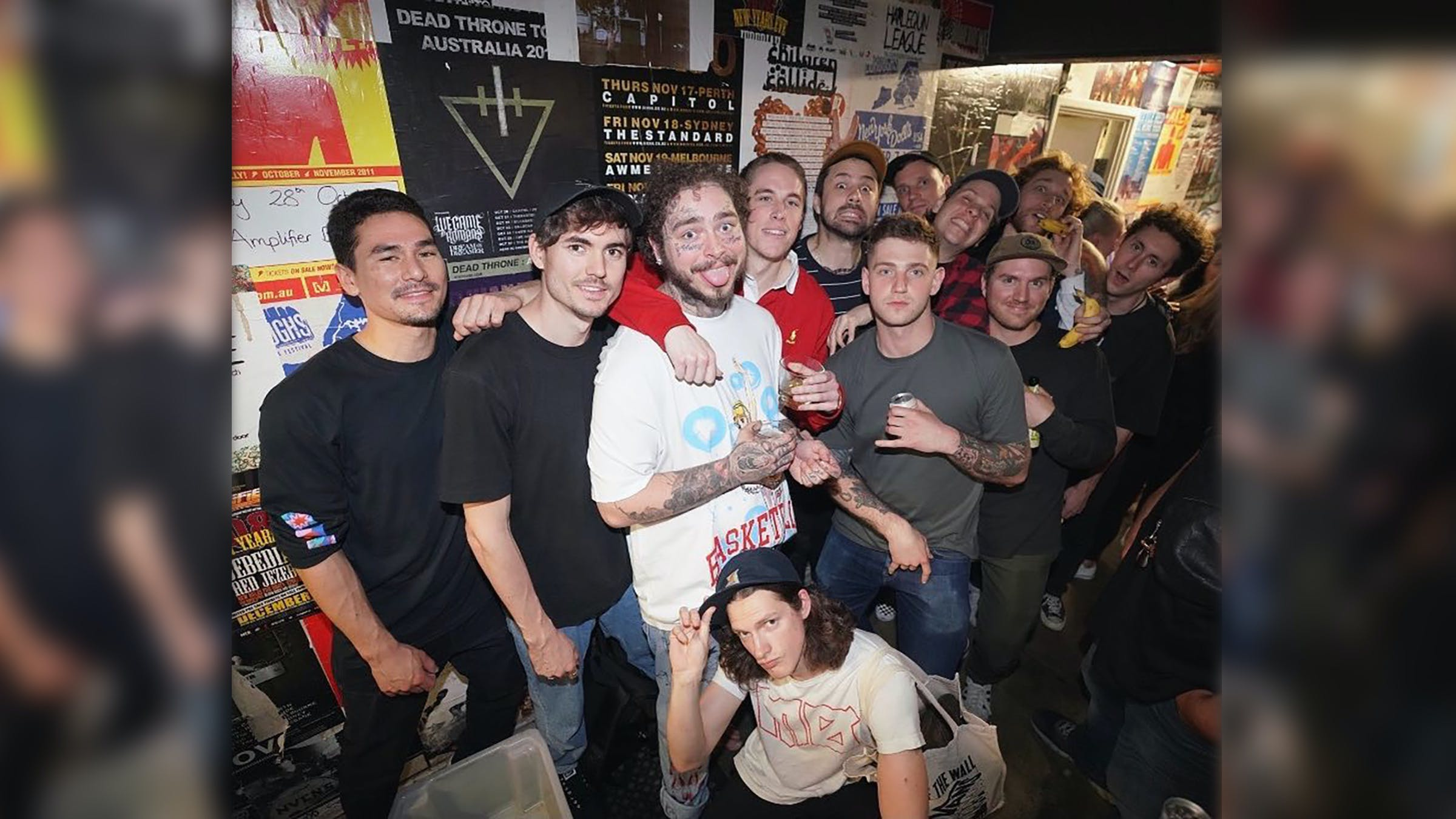 Post Malone Was Spotted at a Basement and The Story So Far Show in Australia