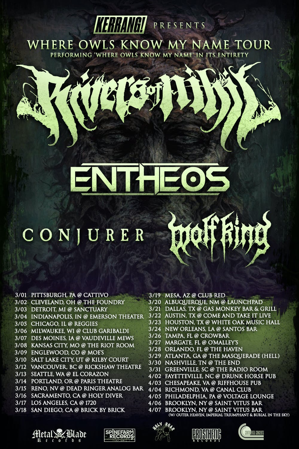 Rivers Of Nihil Tour Updated