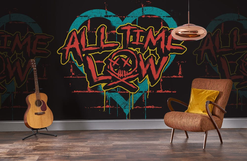 Rock Roll Mural All Time Low