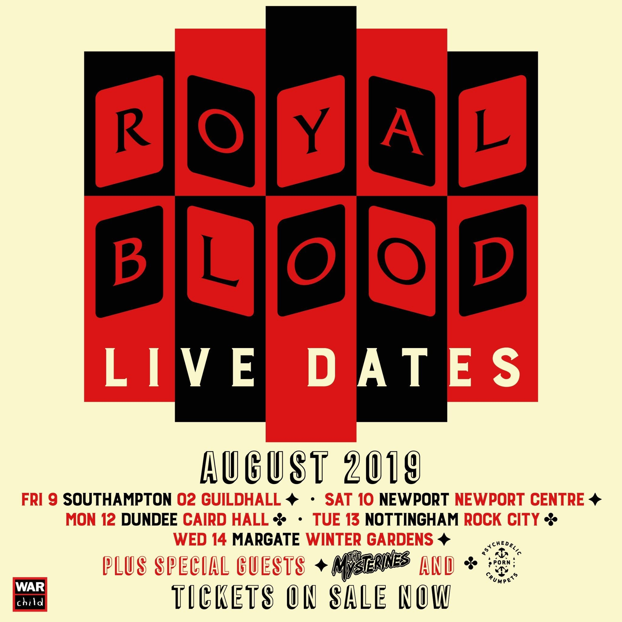 Royal Blood August 2019 Tour