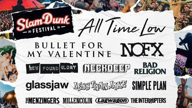 Slam Dunk Festival Announces Stage Splits