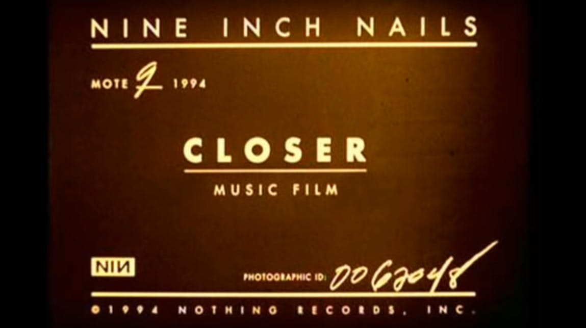 A Deep Dive Into Nine Inch Nails' NSFW Video For Closer