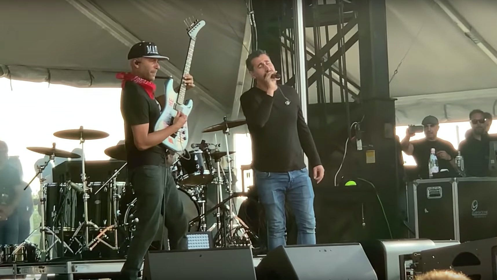Watch Serj Tankian Join Tom Morello Onstage For Audioslave Cover