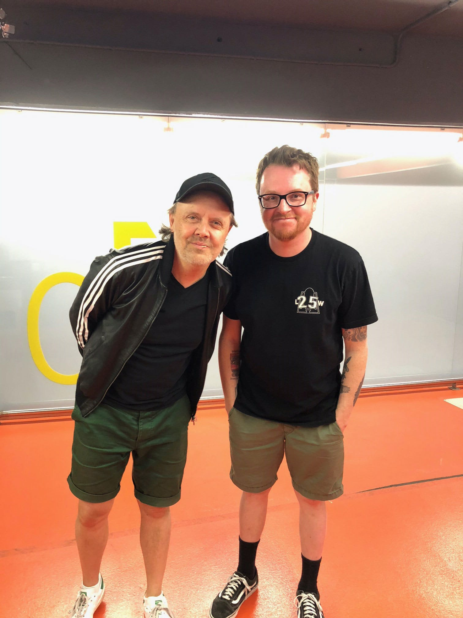 Lars Ulrich with Kerrang! writer Simon Young