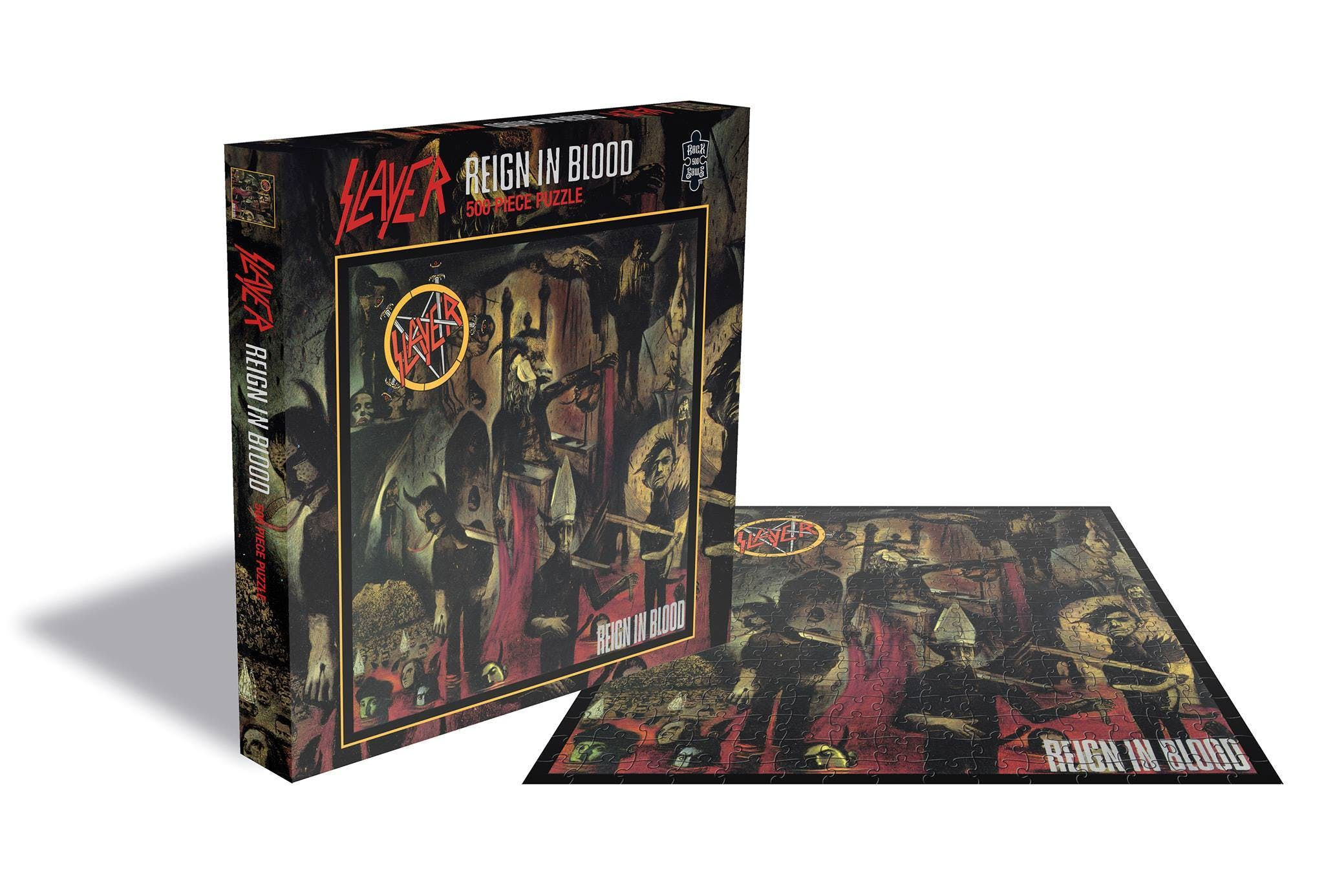 Slayer, Iron Maiden, Motörhead, and Judas Priest Jigsaw Puzzles Now Available