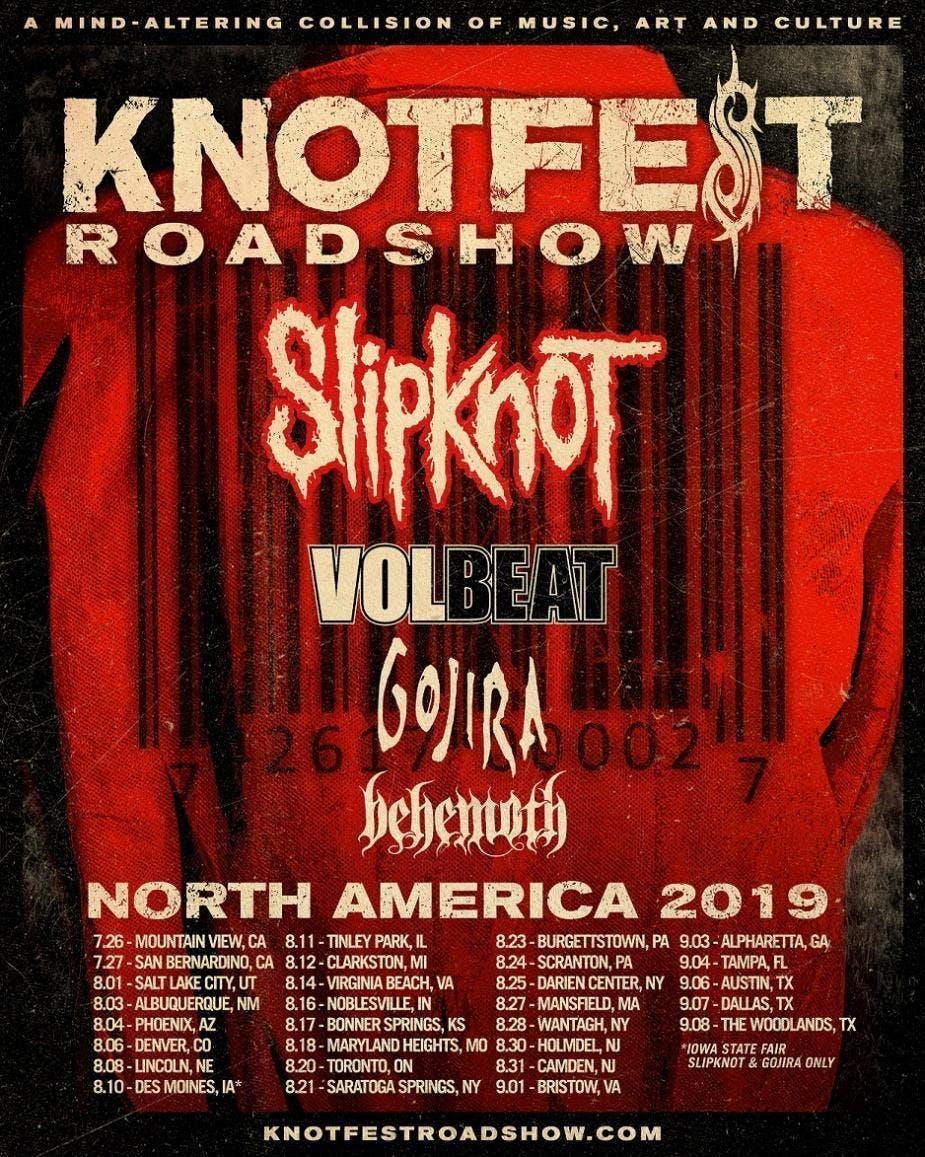 Slipknot North American tour poster
