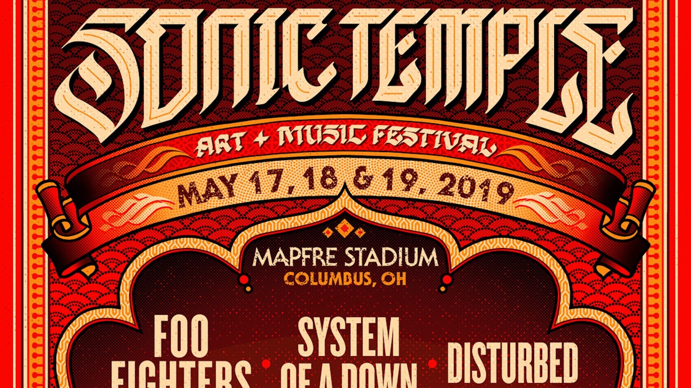 Foo Fighters, System Of A Down, And Disturbed To Headline First-Ever Sonic Temple Art + Music Festival