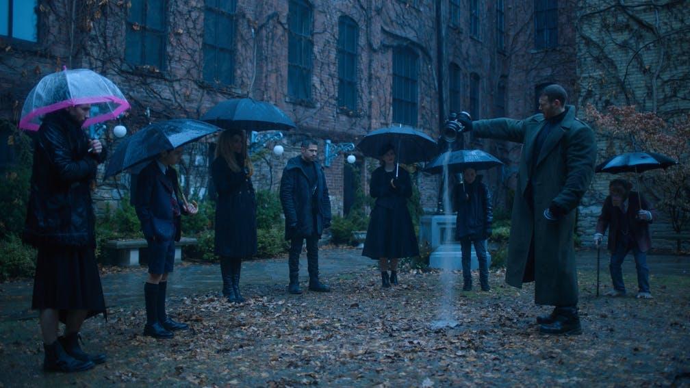 A still from Netflix's The Umbrella Academy